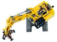 LEGO Technic 42006 - A-Modell Aufsicht mit Getriebe