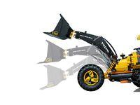 LEGO Technic 42081 - A-Modell Seitenansicht links mit Schaufel