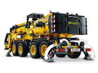 LEGO Technic 42108 - A-Modell Seitenansicht hinten links mit Stützen ausgefahren