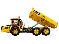 LEGO Technic 42114 - A-Modell Seitenansicht links mit Mulde gekippt
