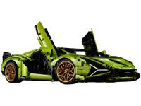 LEGO Technic 42115 - A-Modell Seitenansicht vorne rechts mit Scherentüren offen