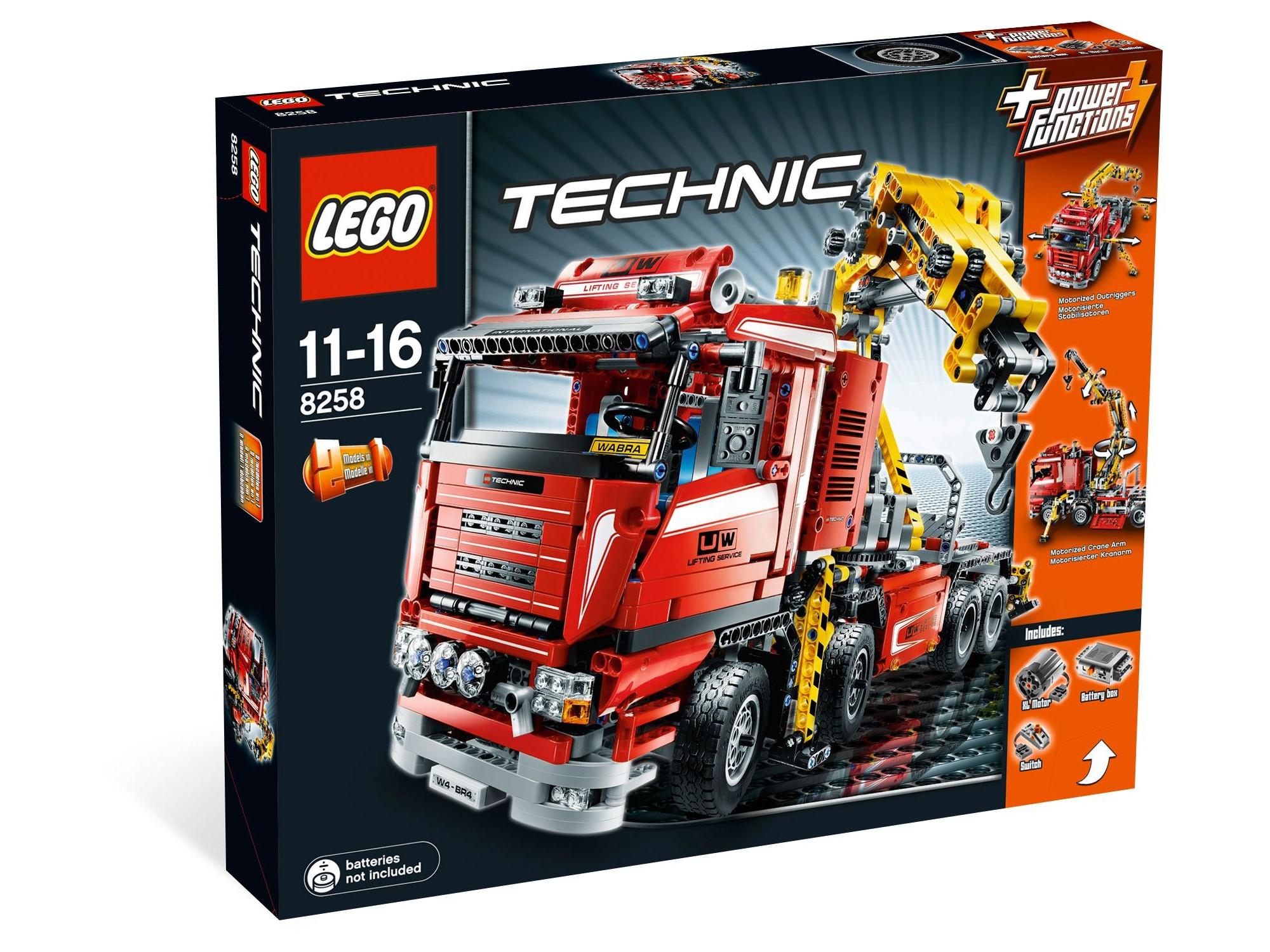 lego technic 8258 truck mit power schwenkkran. Black Bedroom Furniture Sets. Home Design Ideas